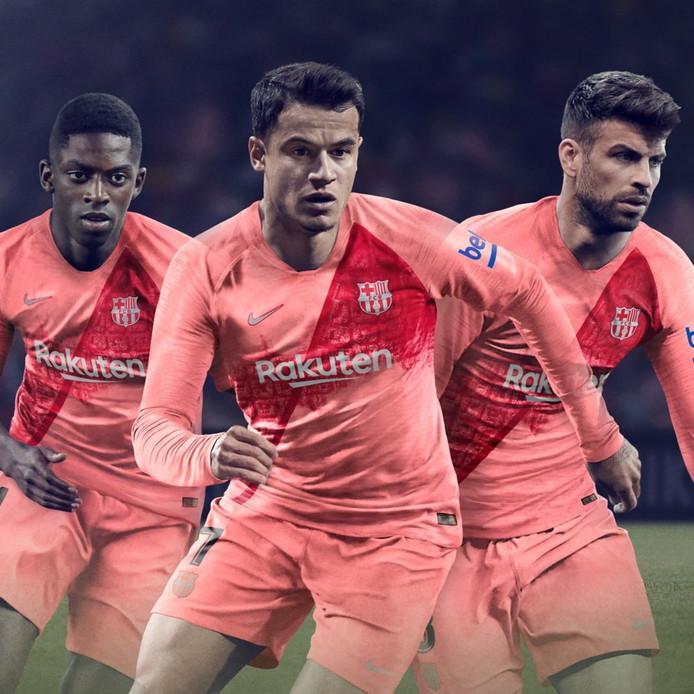 Het nieuwe derde tenue van FC Barcelona.