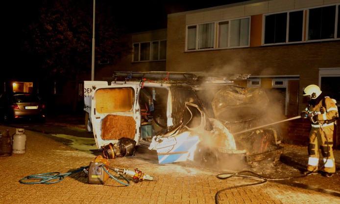 Voertuig in brand in Den Bosch.