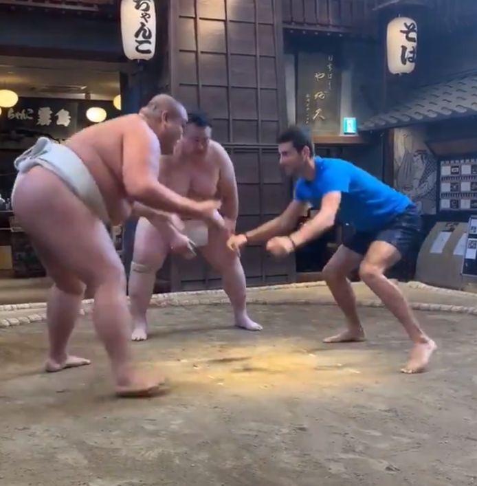 Un combat de Sumo pour Novak Djovic.