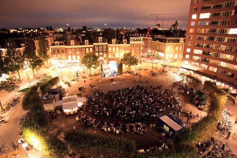 Een voorgaande editie van World Cinema open air Beeld Bas Losekoot