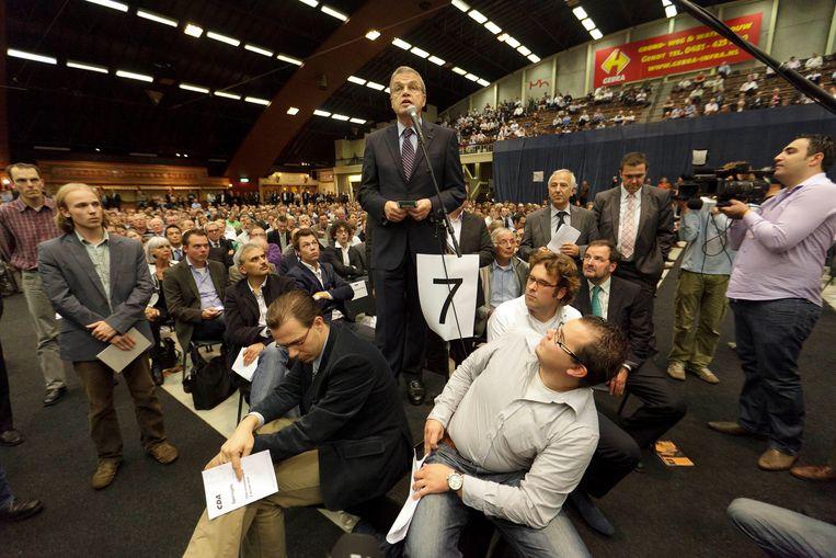 CDA-minister Ernst Hirsch Ballin riep op het CDA-congres in 2010 op tegen de samenwerking met de PVV te stemmen. Beeld ANP