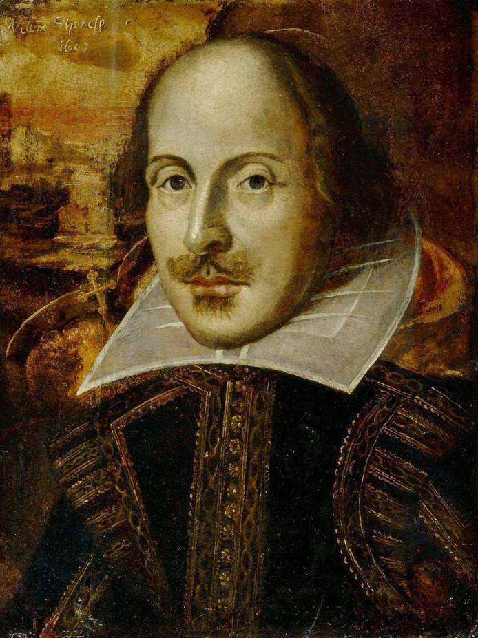 Een portret van William Shakespeare (1564-1616).