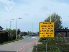 Rotonde Vriezenweg bij N207 vanaf vanavond twee dagen afgesloten