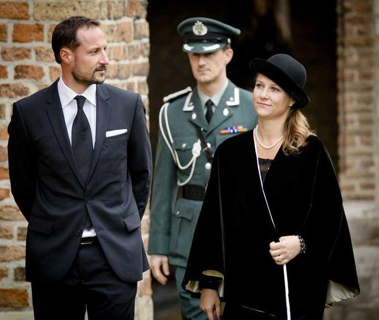 De Noorse kroonprins Haakon en zijn zus Martha Louise.