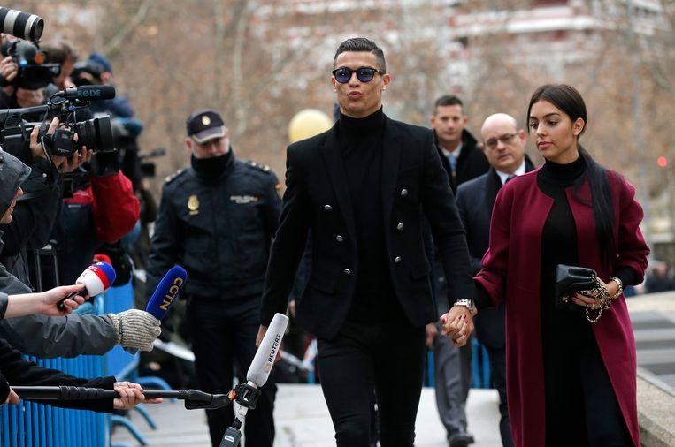 Cristiano Ronaldo en zijn vriendin Georgina Rodriguez.