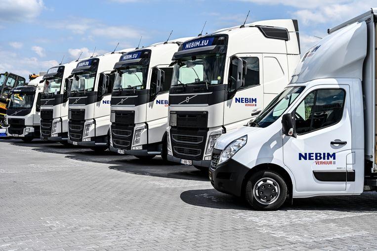 Naast de verkoop en onderhoud van vrachtwagens, verhuurt Nebim ook trucks.