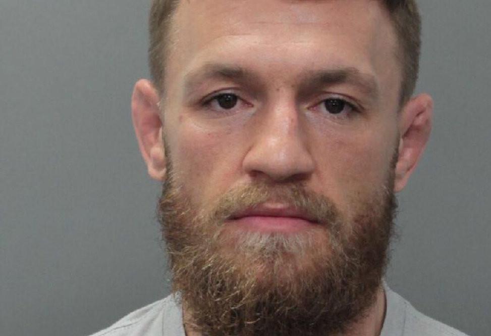 Conor McGregor op een politiefoto van gisteravond.