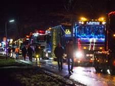 Bonte kleurenkakofonie dieselt door Twenterand tijdens verlichte truckrit