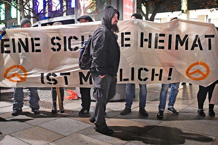 De demonstraties begonnen na de aanslagen in Berlijn. Beeld Guus Dubbelman