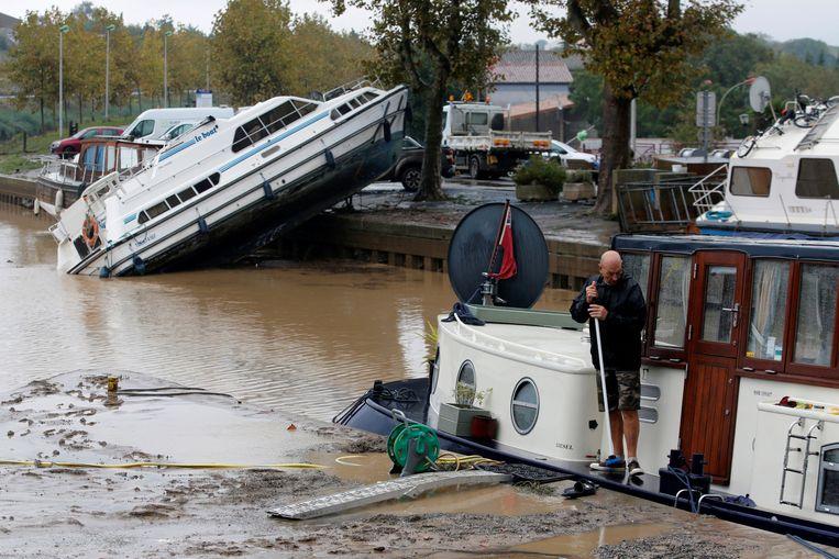 Zware stortregens hebben twee weken geleden zeker 12 doden geëist in de Zuid-Franse regio Trèbes, bij Carcassonne. Bruggen spoelden weg, wagens, bomen en elektriciteitsmasten werden in de kolkende stroom meegezogen.