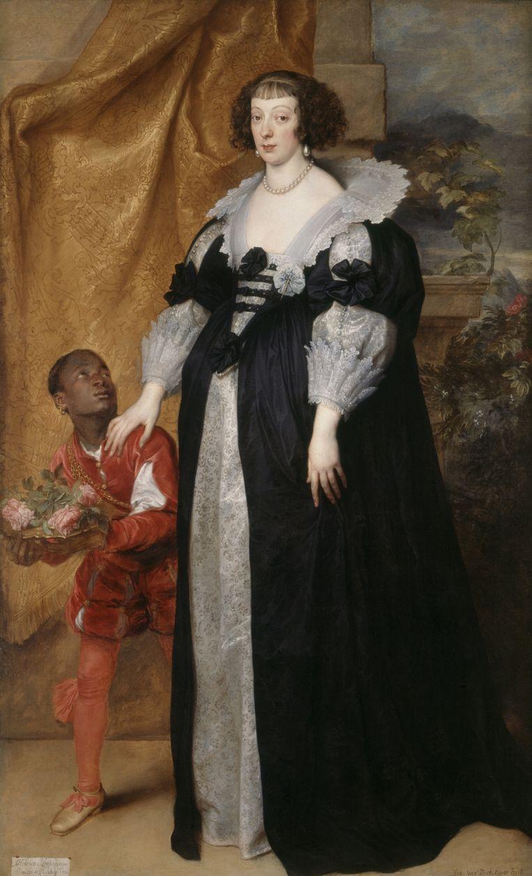 Henrietta of Lorraine, van Sir Anthony Van Dyck Beeld Historic England