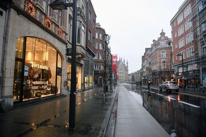 Opvallend rustig in Leuven bij de heropening van de winkels