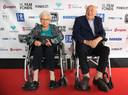 Het echtpaar Trimpe op de rode loper van Film by the Sea in Vlissingen