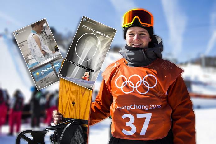 Snowboarder Niek van der Velden.