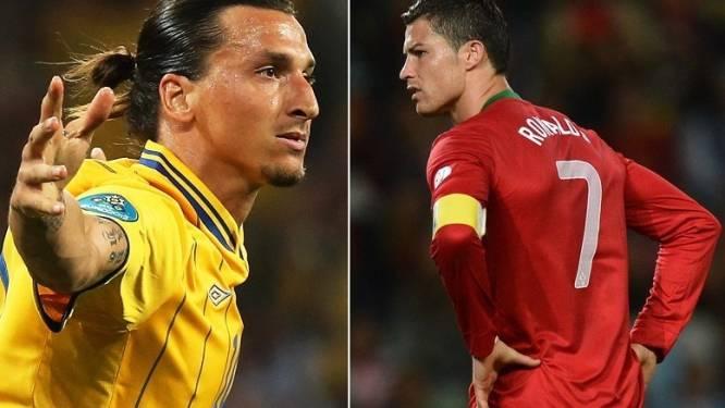 Ronaldo oog in oog met Ibrahimovic in barrages