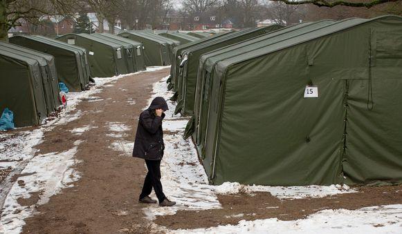 Nog 750 vluchtelingen wonen in tenten in een opvangcentrum in Hamburg.