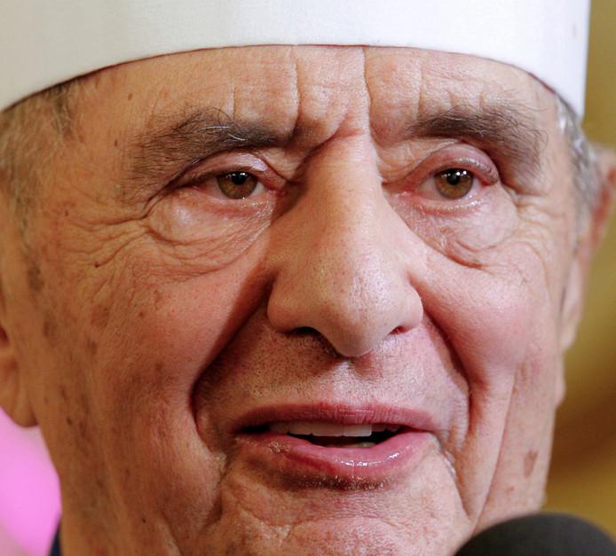 De legendarische kok Paul Bocuse, hier op een archieffoto uit 2011, toen hij 84 was.