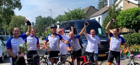 Karel Luttikholt uit Goirle fietst in 25 uur 24 mille bijeen tegen kinderkanker