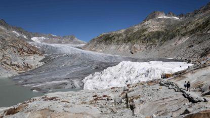 Veel winterse sneeuw, maar toch krompen Zwitserse gletsjers enorm door zomerhitte