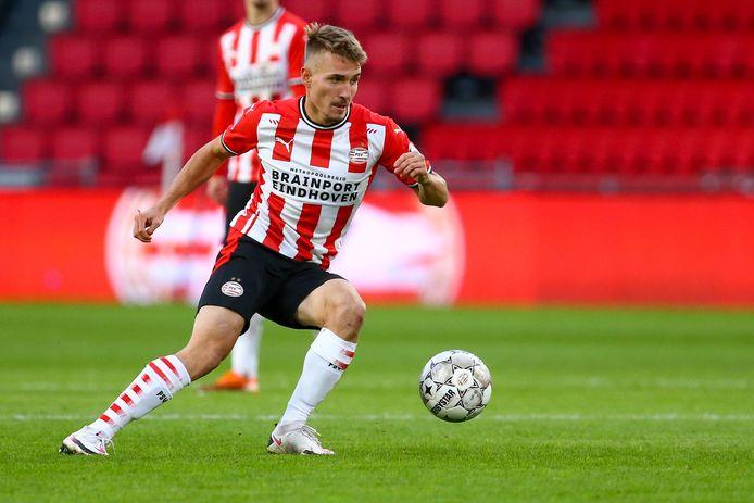 Michal Sadílek viel tegen Fortuna Sittard in bij PSV.