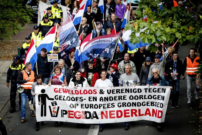 Betoging Pegida in Den Haag, archiefbeeld uit 2016.