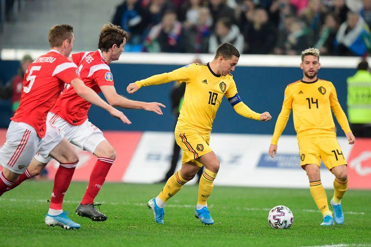 De Rode Duivels spelen twee van hun drie groepswedstrijden op het EK in Sint-Petersburg.