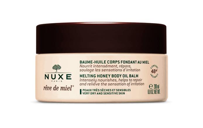 """Baume """"Rêve de miel"""" - 24 euros/200 ml. Disponible en pharmacies et parapharmacies."""