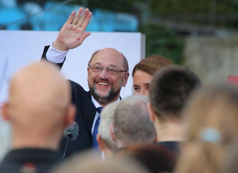 Martin Schulz van de SPD. Beeld null