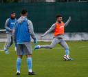 Bilal Basacikoglu op zijn eerste training bij Trabzonspor.