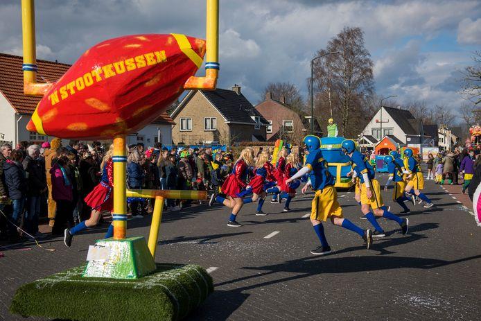De carnavalsoptocht in Budel eerder dit jaar.