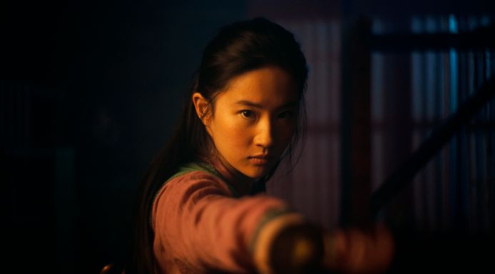 Yifei Liu in de titelrol van de nieuwe Disney-film Mulan.