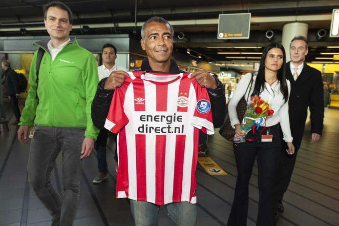 De komst van Romário was een hoogtepunt in de periode dat Energiedirect.nl hoofdsponsor van PSV was.