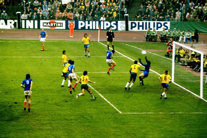 Brazilë bleef in 1974 steken op 0-0 tegen Joegoslavië.