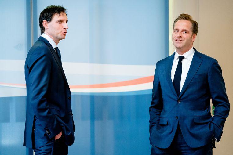 Ministers Wopke Hoekstra en Hugo de Jonge. Beeld ANP