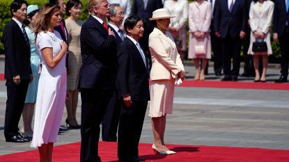 Trump ontmoet als eerste buitenlandse leider nieuwe Japanse keizer Naruhito
