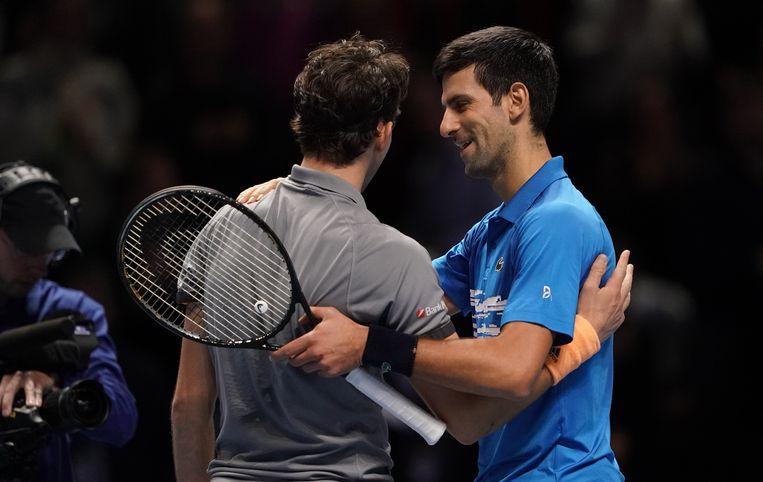 Thiem en Djokovic.