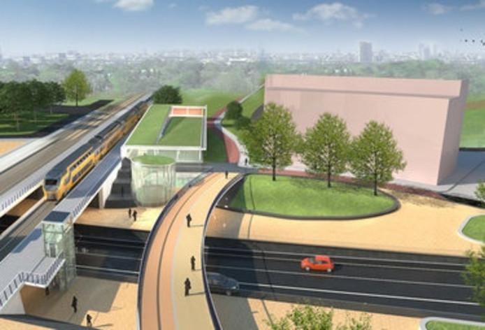 Impressie van de nieuwe spoorzone in Helmond. Beeld: MNO Vervat
