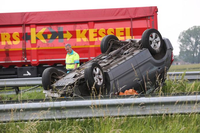 Ongeluk op de A58 bij Roosendaal.