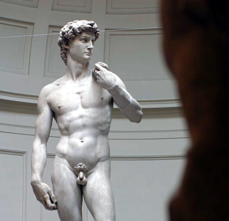 David uit het Oude Testament kreeg van Michelangelo een voorhuid.
