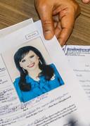 De registratie van Ubolratana bij het kiesregister.