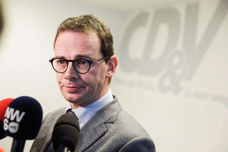 CD&V-voorzitter Wouter Beke zei vandaag dat een ontslag van Theo Francken niet aan de orde is.