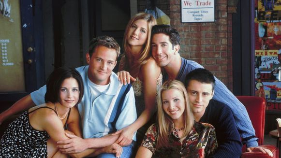Monica, Chandler, Rachel, Ross, Phoebe en Joey.