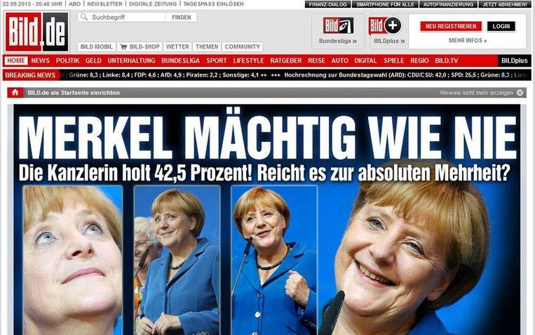 Screenshot van de site van Bild Beeld null