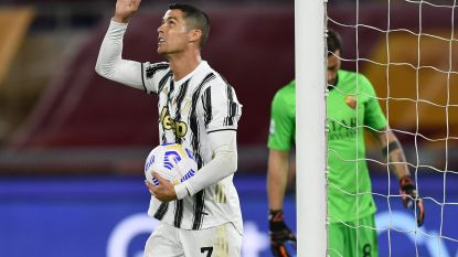 Tienkoppig Juventus mag Ronaldo danken voor gelijkspel bij AS Roma