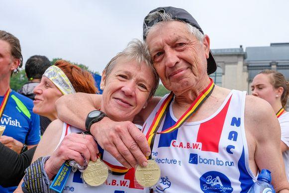 Lea Walravens en Daniel Tinck liepen de 20km samen uit in een snelle 1uur 48minuten.
