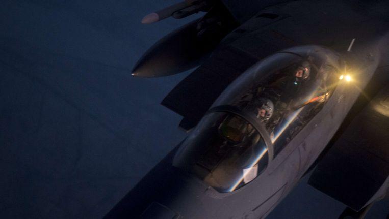 Een Amerikaans toestel dat luchtaanvallen uitvoert. Beeld afp