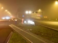 Automobilist rijdt vangrail omver bij Oudenrijn
