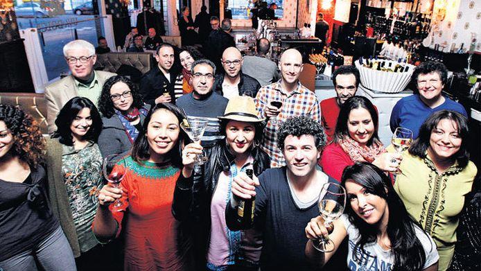 Er werden al veel protestborrels in de wijnbar gehouden.