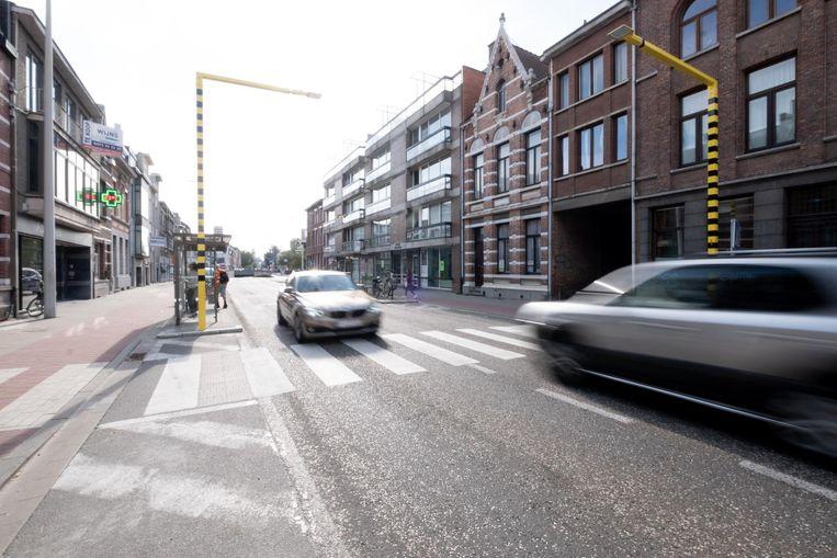 De oversteekplaats aan de Antwerpsesteenweg.