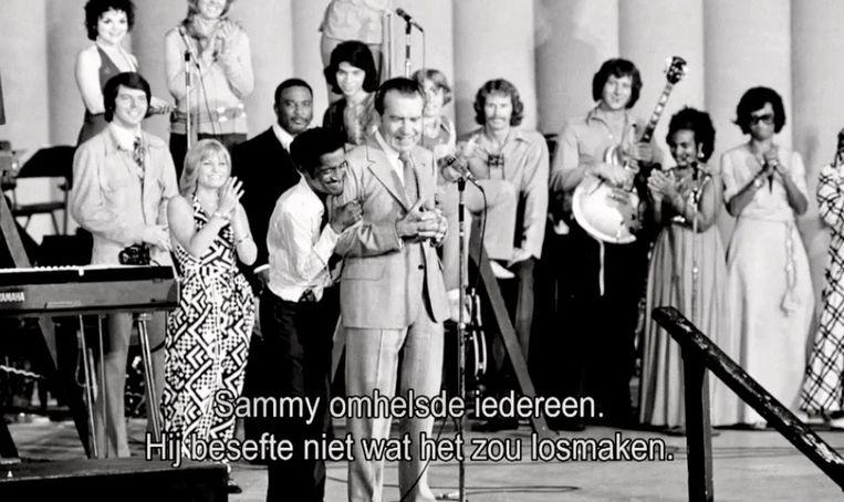 Sammy Davis jr en Richard Nixon Beeld NTR